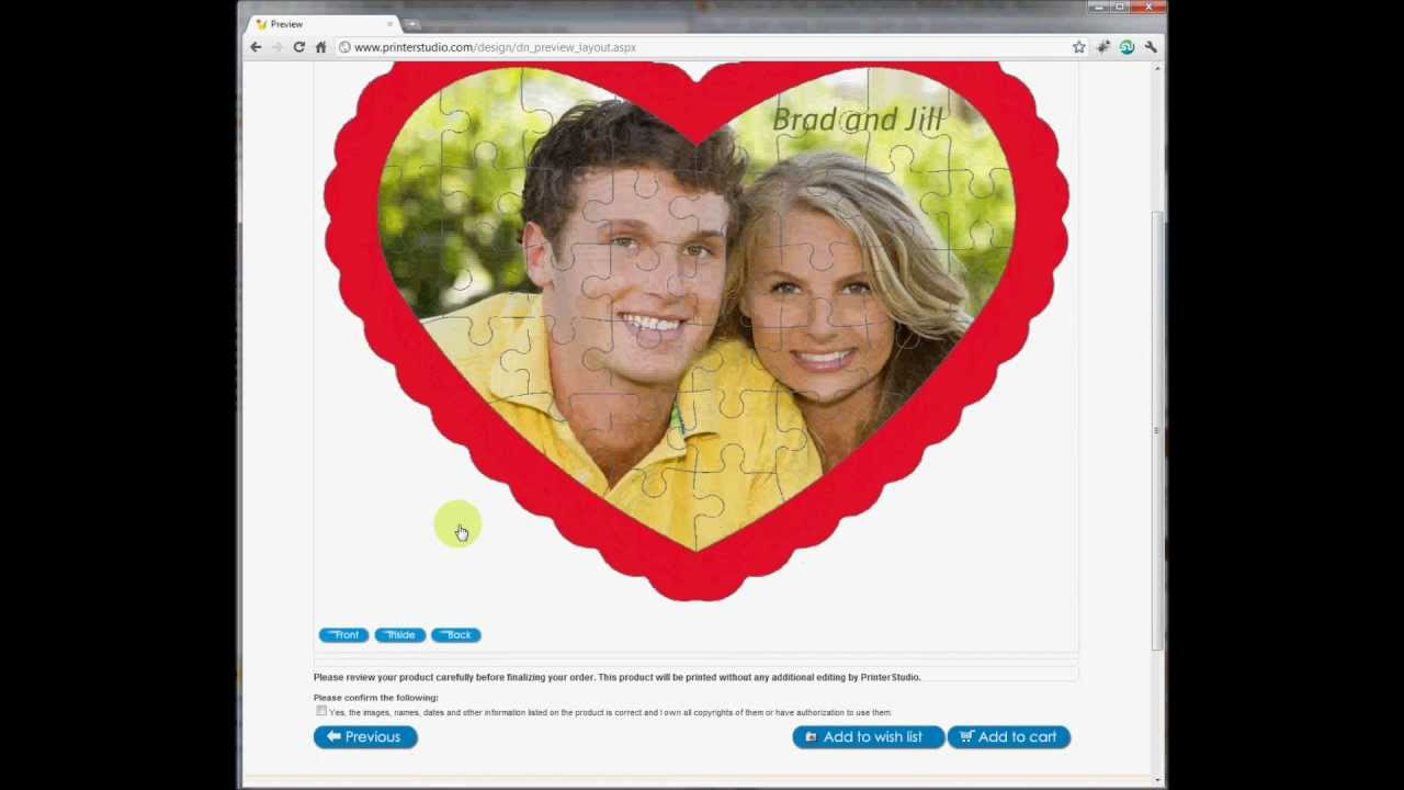 Make a heart puzzle with heart shaped photo frame for Valentines ...