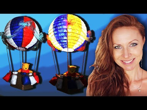 DIY - Best Out of Waste Project - Hot Air Balloon Light Shade for a Child's Room