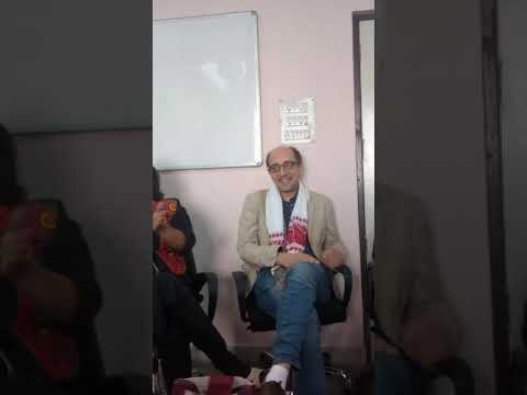 French author David Collin at Foreign language department of Gauhati university