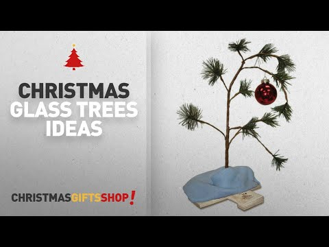 Top 10 Glass Christmas Trees: ProductWorks 24-Inch Peanuts Charlie Brown Musical Christmas Tree with