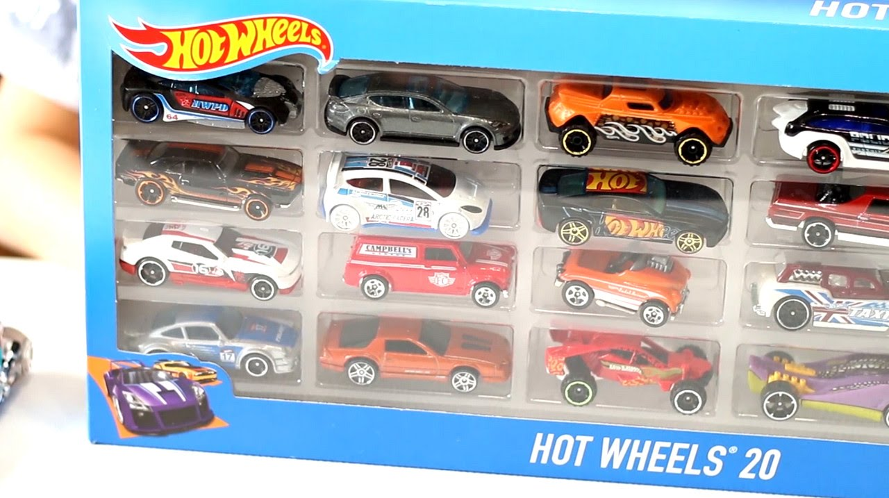 Opening Hot Wheels Carded Toy Cars Sports Cars Trucks Muscle
