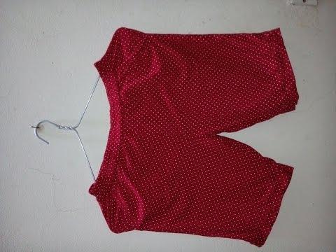 Cách cắt và may quần đùi nữ cạp chun (phần 2)_How to cut and sew a short (part 2)