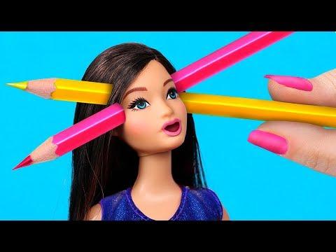 Канцелярия из игрушек – 9 идей / Как пронести кукол Барби в школу