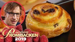 45 cm Rosinenschnecke: Leckeres Hefegebäck 2/2 | Aufgabe | Das große Promibacken 2019 | SAT.1 TV