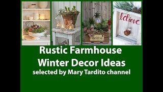 Winter Rustic Farmhouse Decor Ideas