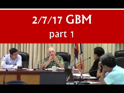 Feb 7, 2017 – Hawaiʻi BOE General Business meeting (GBM) [part 1 of 2]