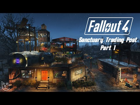 Fallout 4 Settlement Building - Sanctuary Trading Post Part 1