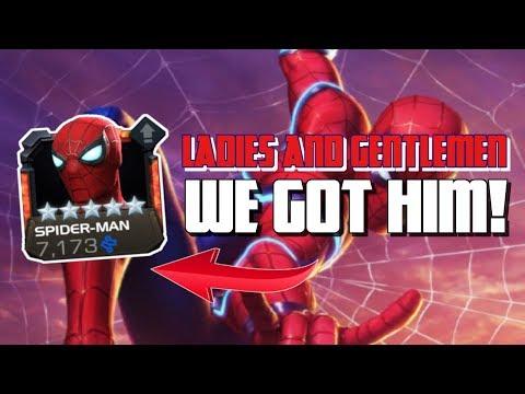 We Got Him! 5 Star Stark Spidey Unboxing - Marvel Contest of Champions - 동영상