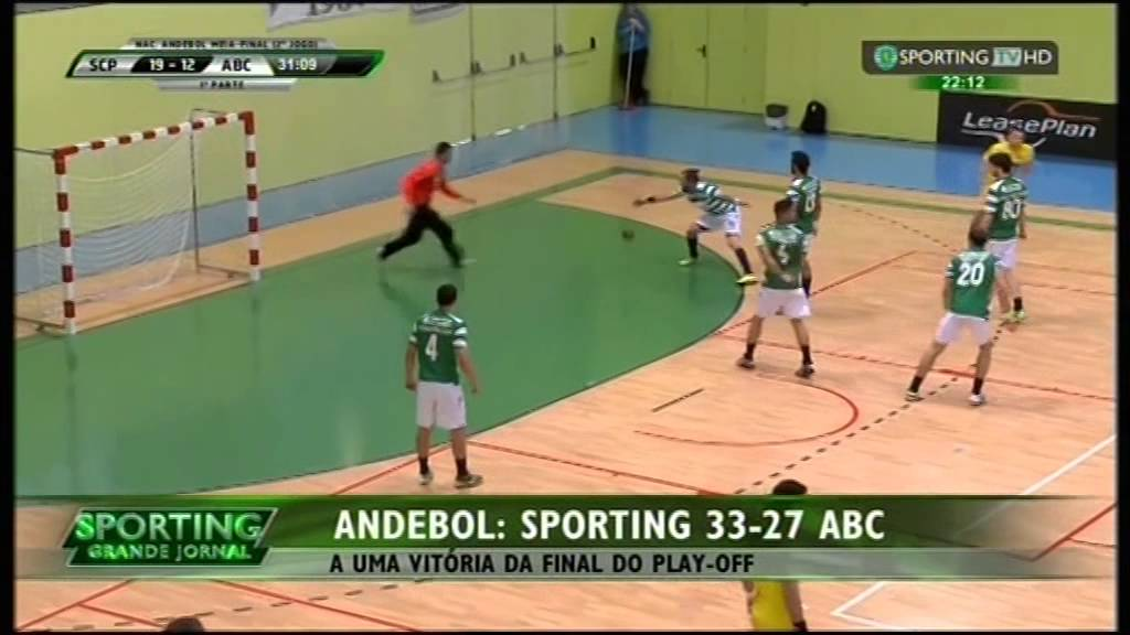 Andebol :: Play-off 1/2 Final 2Jogo :: Sporting - 33 x ABC - 27 de 2014/2015