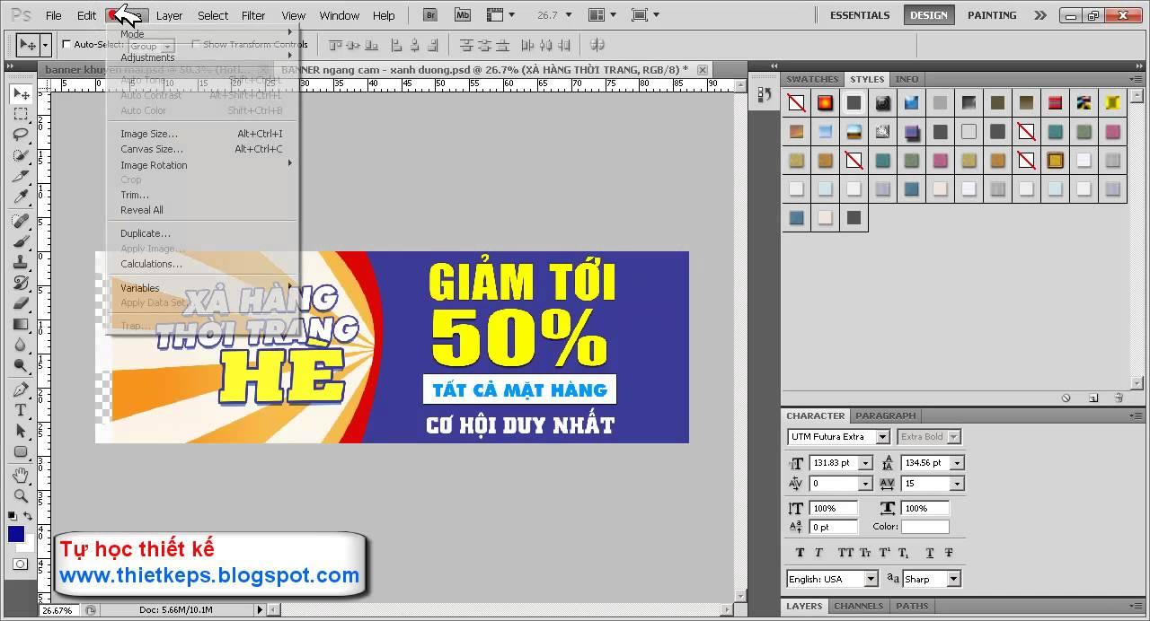 Hướng dẫn thay đổi kích thước hình ảnh và Khung bàn làm việc Canvas size  [Offical Video]