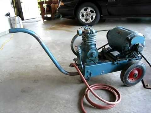 Air Compressor Quincy Model X8 1951 Vintage Youtube