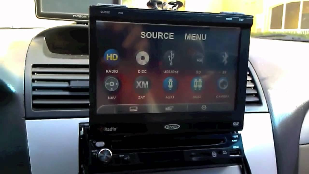 jensen vm9314 car stereo install in my toyota camry solara convertible [ 1280 x 720 Pixel ]