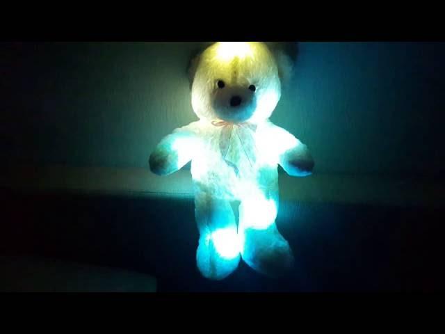 Светящиеся плюшевые медведи   подарок для ребенка