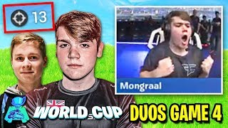Mongraal Gets *HYPE* After Popping Off! (Fortnite World Cup Duos Finals - Game 4)