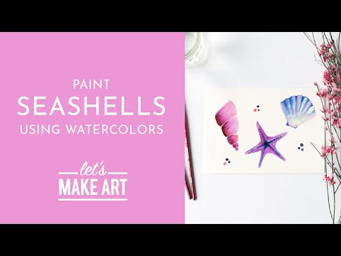 Let's Paint Seashells | Watercolor Tutorial With Sarah Cray