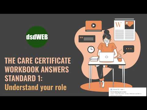 Standard 1 Understand Your Role - Care Certificate Workbook Answers