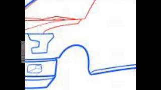How To Draw A Ford F-150 pick up truck