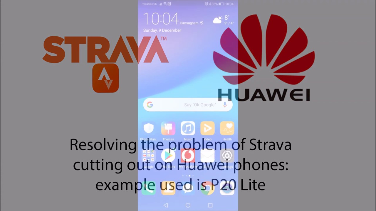 Strava problem with Huawei phone: one solution