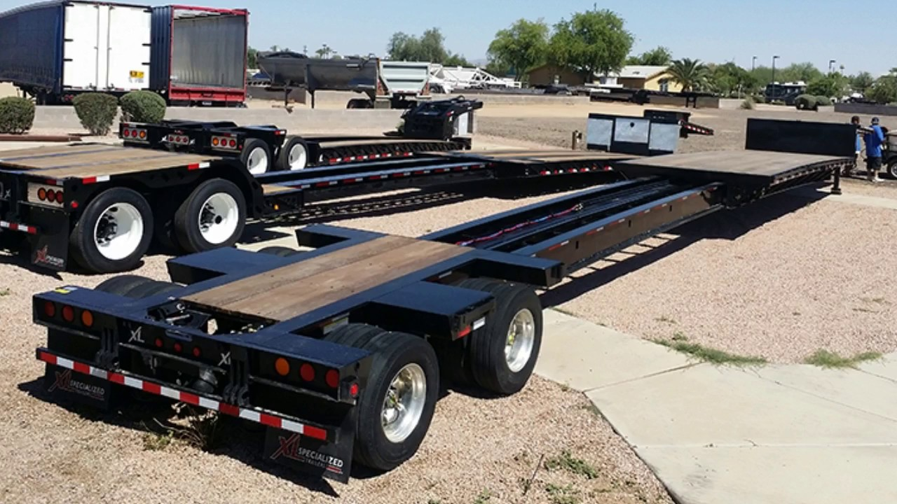 New Extendable Drop Deck Trailer For Sale Youtube