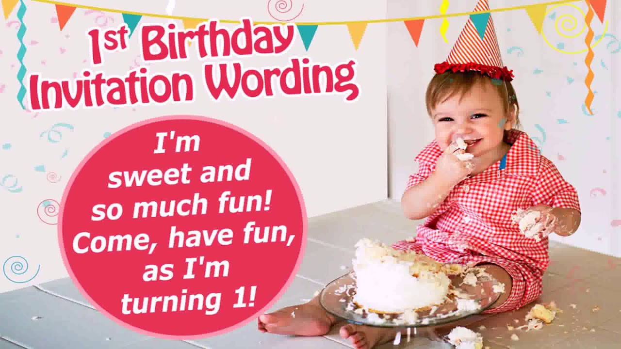 Birthday Party Invitation Wording For 1 Year Old Boy