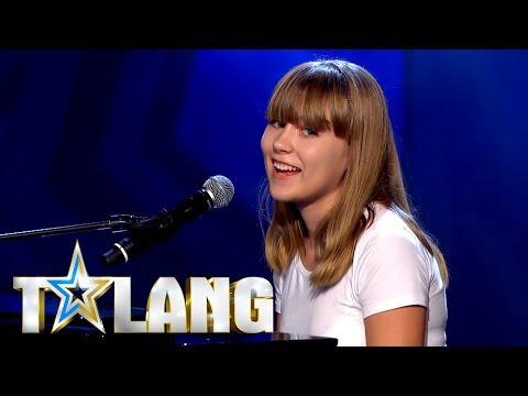 Paula Jivén framför Michael Jacksons Billie Jean i Talang - Talang (TV4)