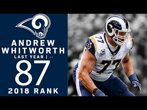 #87: Andrew Whitworth (OT, Rams) | Top 100 Players of 2018 | NFL