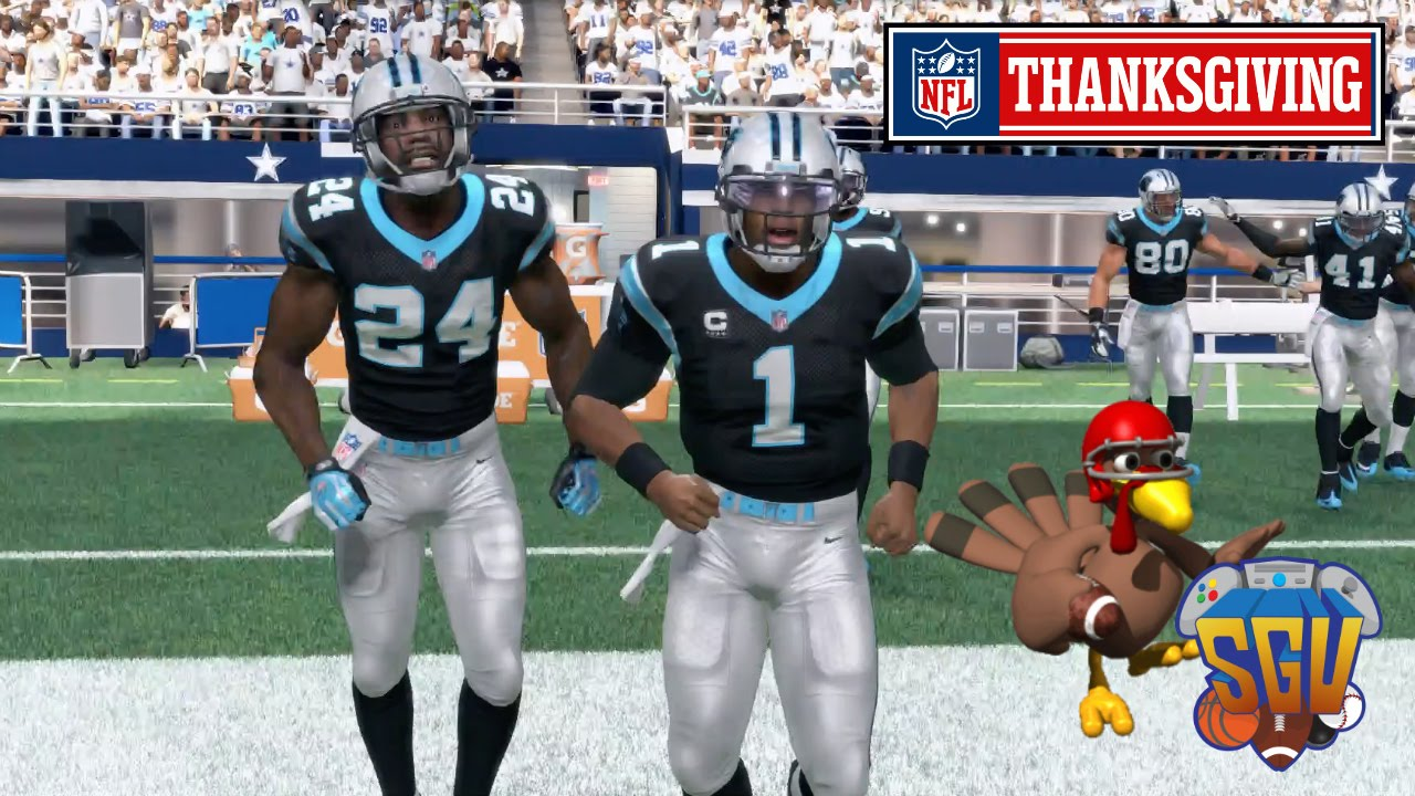 582dcac7538 Madden 16 (Xbox One) - NFL Thanksgiving Day Sim  Cowboys vs Panthers -  YouTube