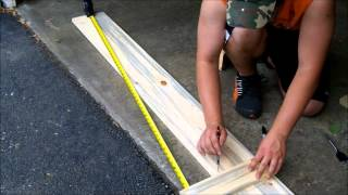 How To Make Your Own Fishing Rod Rack. (part 1 Of 2)