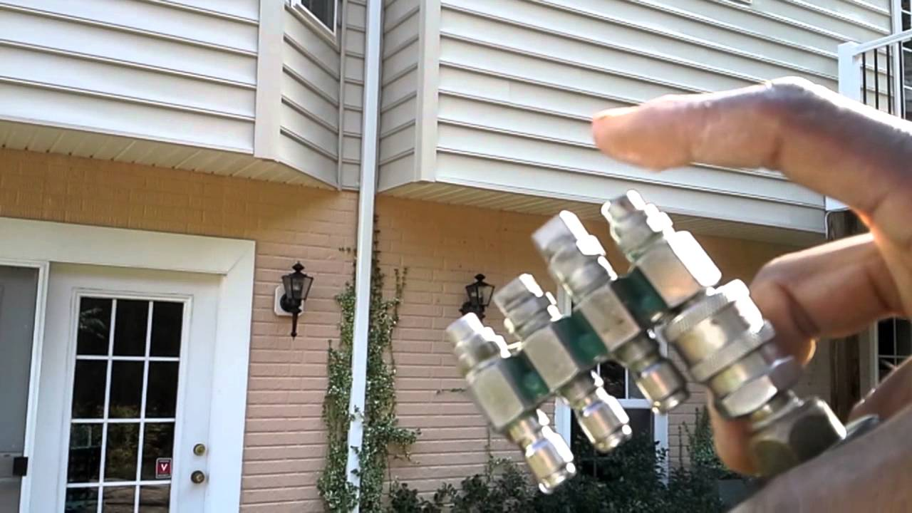 House Washing Trigger Spray Gun Tip When Power Washing
