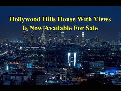 House For Sale In Hollywood Hills. Amazing Killer View. Custom Built, Rock Solid Dream Home.