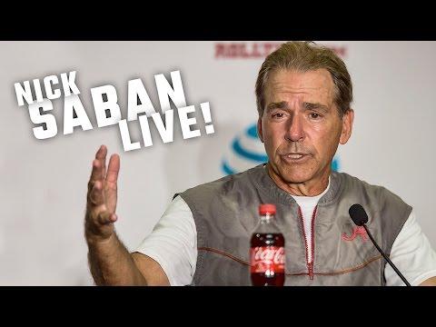 Hear what Nick Saban had to say as Alabama prepares to face Southern Cal