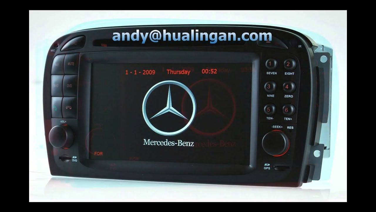 Auto dvd gps navigation system for benz sl r230