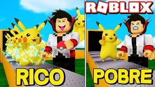 RICO VS PAUVRES! PIKACHU LEGENDARY POKEMON DETECTIVE MANUFACTURES IN ROBLOX-Pikachu Tycoon