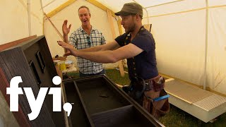 Tiny House Nation: Coffee Table Editing Chest  Season 4, Episode 9  | Fyi