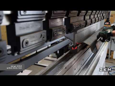 ZKM - Gięcie blachy - stal gat. S235JR - gr. 5,0mm - Prasa krawędziowa VIMERCATI PHSY 150x3050