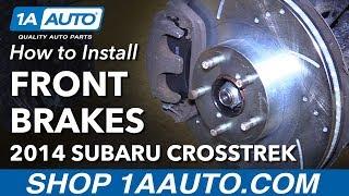 How to Replace Front Brake Pads Rotors 13-14 Subaru XV Crosstrek