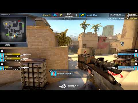 Cloud9 vs Na'Vi Bo3 Elimination - ESL One New York 2017 map 1