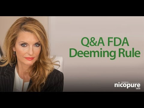 FDA Deeming Rule Q&A with Patricia Kovacevic   Nicopure Labs