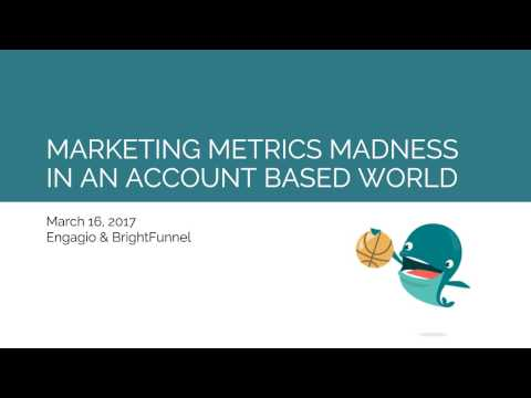 Marketing Metrics Madness Webinar Replay