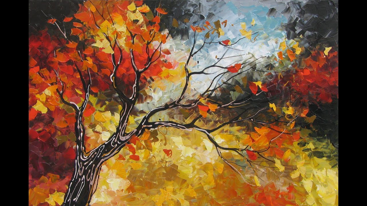 Fall Birch Tree Wallpaper Amazing Landscapes Autumn Paintings Art By Lena