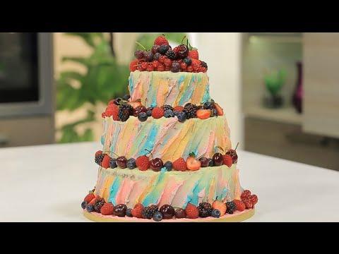 تزيين تورتة عيد ميلاد سفره  بالفانيليا و الفواكه   سالي فؤاد
