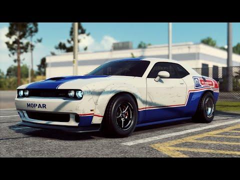 NFS Heat | Widebody Dodge Challenger DragPak | Cinematic & Pulls