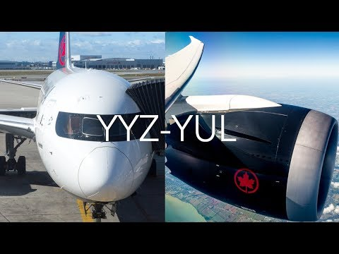 NEW LIVERY Air Canada Toronto-Montreal | Boeing 787-9 (C-FRTW) *60FPS*