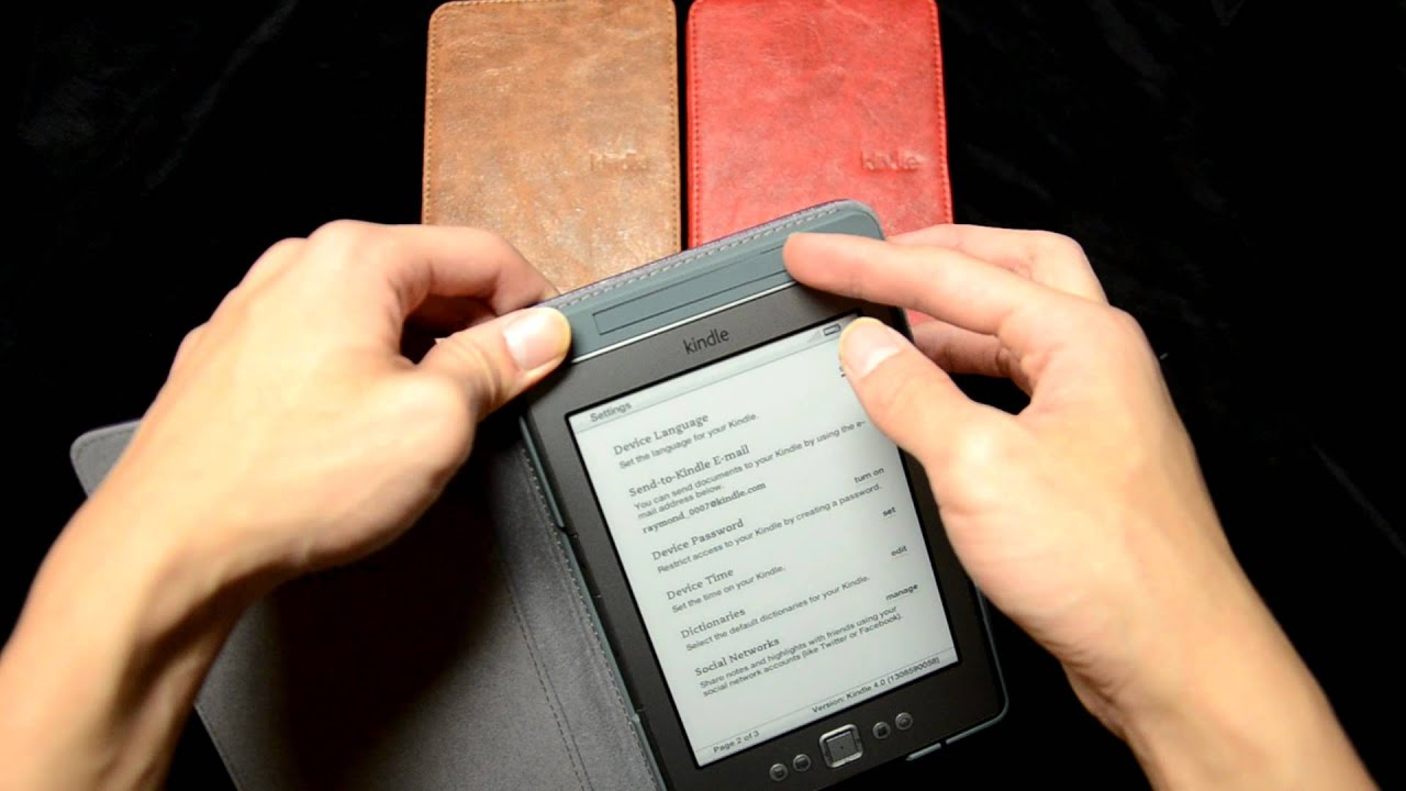 kindle  case with built in lightmov  youtube -