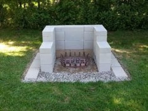 Cinder Block Fire Pit - YouTube on Simple Cinder Block Fireplace id=73675