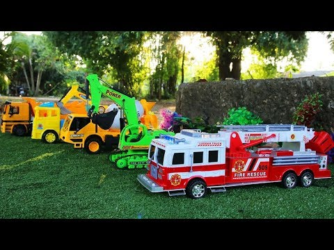 Toy Car Vehicles for Children | Fire Truck | Excavator | Truck | Cement Truck