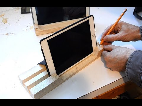 Super simple iPad stand build