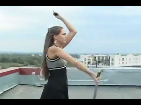 Dance Russian girl with a sword