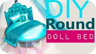 Doll Bed | DIY Round Doll Bed for Your Barbie or Monster Doll