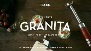 Aeg - Now You're Cooking - Spumante Granita With Strawberries